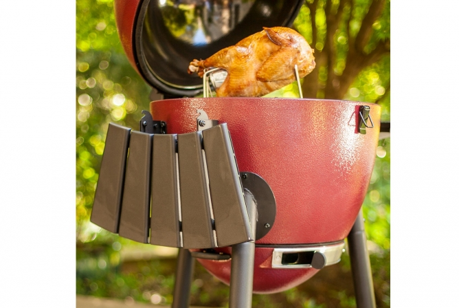 Char-Griller AKORN Kamado 16620 Review Folding Side Shelf