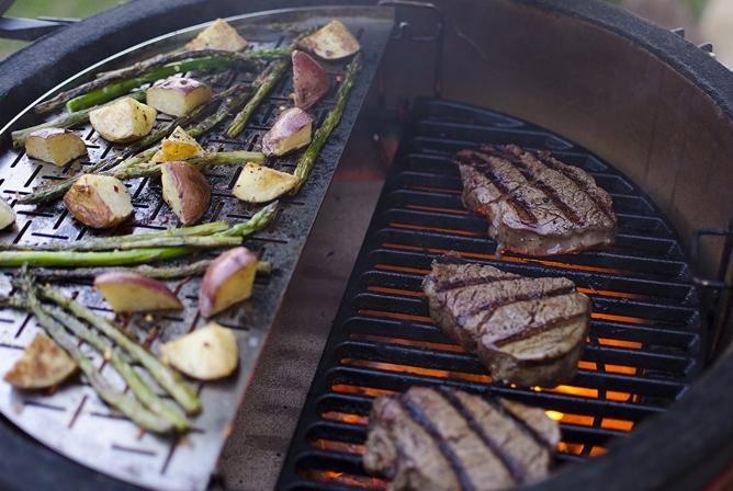 Kamado Joe Classic II Review Multi-level cooking