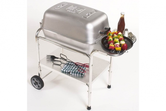 Original PK Grill and Smoker Review Side Table and Under Table