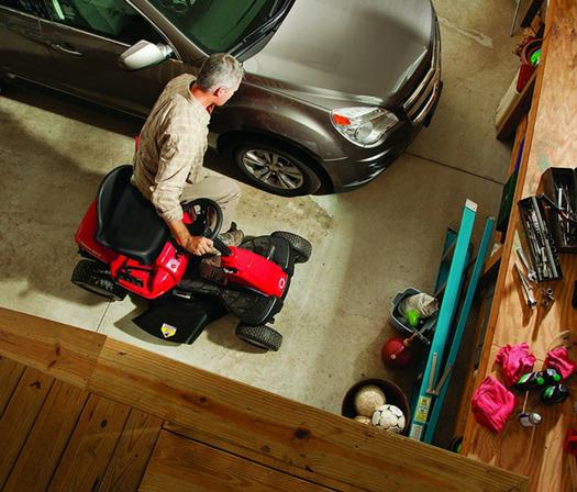 Troy-Bilt 30-Inch Neighborhood Riding Lawn Mower compact size