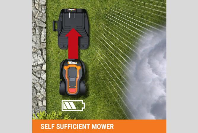 WORX WG794 28-volt Landroid Robotic Lawn Mower exhaust