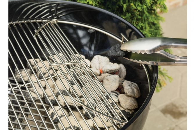 Weber Original Kettle Premium Charcoal Grill Review Hinged Cooking Grate