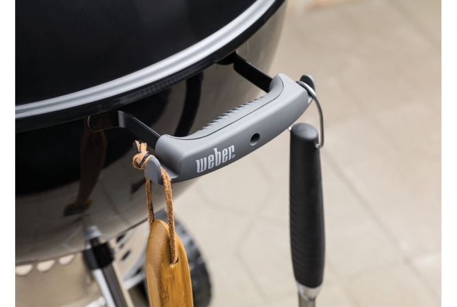 Weber Original Kettle Premium Charcoal Grill Review Integrated Tool Hooks