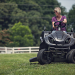 Raven MPV7100 Series Hybrid Riding Lawnmower Power Generator and Utility Vehicle in use