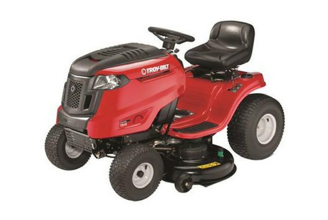 Troy-Bilt TB46 19HP540cc Intek 46-Inch Automatic Riding Lawn Tractor side view