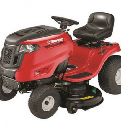 Troy-Bilt TB46 19HP540cc Intek 46-Inch Automatic Riding Lawn Tractor side view