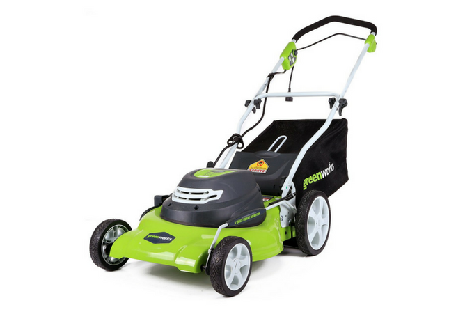 GreenWorks 25022 12 Amp Corded 20-Inch Lawn Mower full view