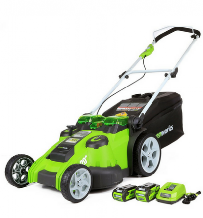 GreenWorks 25302 G-MAX 40V Twin Force 20-Inch Cordless Lawn Mower full view