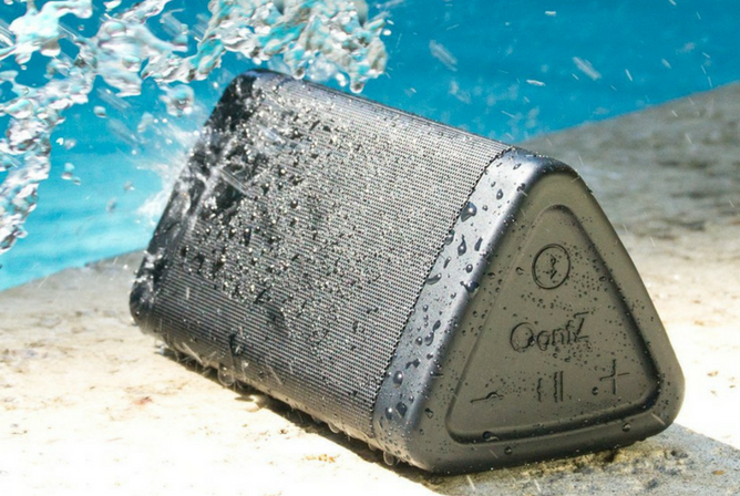 OontZ Angle 3 Portable Bluetooth Speaker Review waterproof