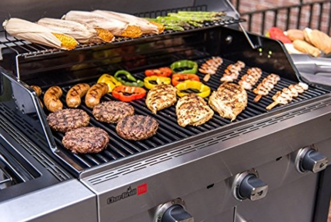 Char-Broil Signature Tru-Infrared 3 Burner Gas Grill Review Warming Rack