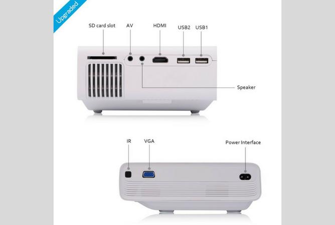 Meyoung TC80 LED Mini Projector ports