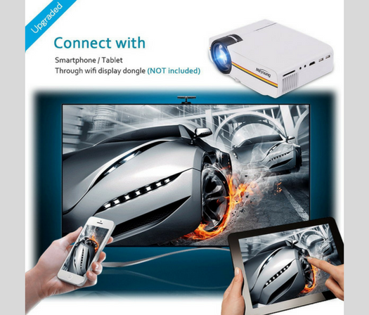 Meyoung TC80 LED Mini Projector with devices