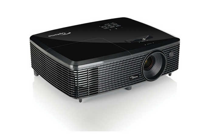 Optoma HD142X 1080p 3000 Lumens 3D DLP Home Theater Projector angled