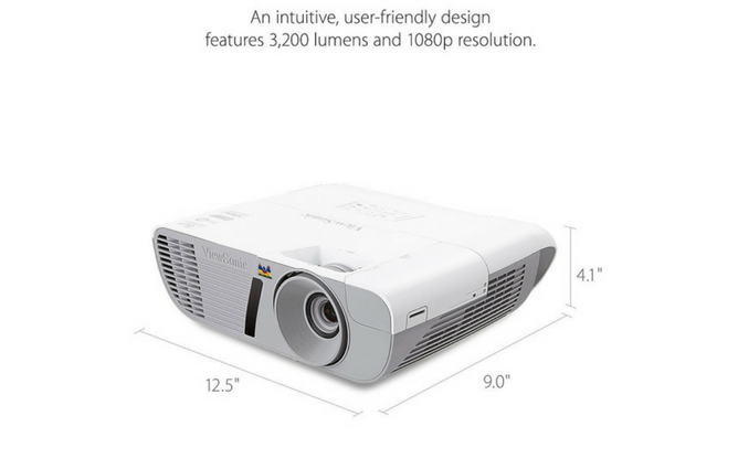 ViewSonic PJD7828HDL 3200 Lumens 1080p HDMI Home Theater Projector specs