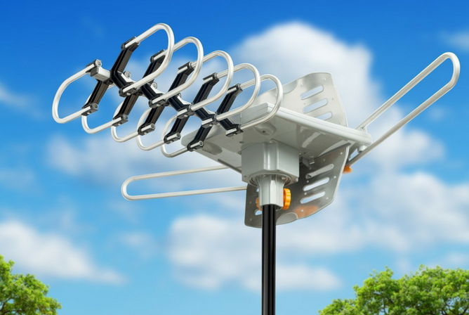 ViewTV Outdoor Amplified Antenna outside