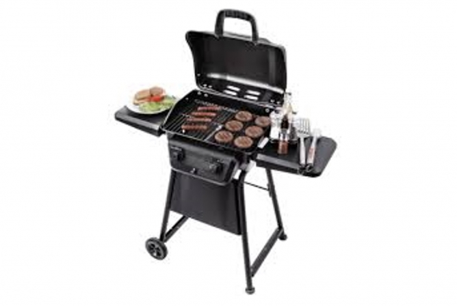 Char-Broil Classic 280 Propane Grill Review Open