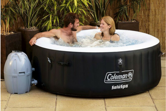 Coleman SaluSpa 4 Person Inflatable Portable Outdoor Spa and Hot Tub