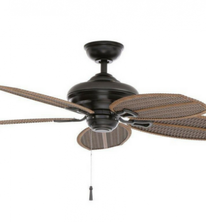 Hampton Bay Palm Beach Natural Iron Ceiling Fan