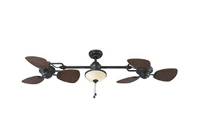 Harbor Breeze Twin Breeze Bronze Downrod Ceiling Fan