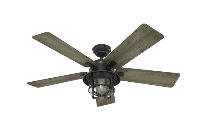 Hunter Weathered Zinc Outdoor Ceiling Fan