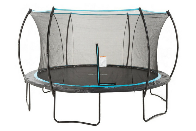SkyBound Cirrus 14 ft Trampoline with Full Enclosure Net System full view