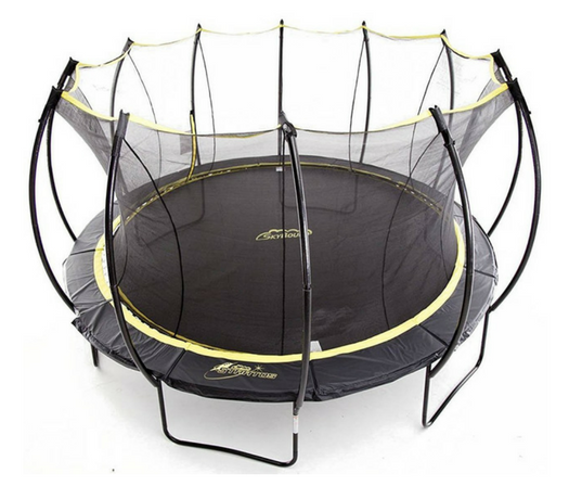 SkyBound Stratos Trampoline with Full Enclosure Net System top view
