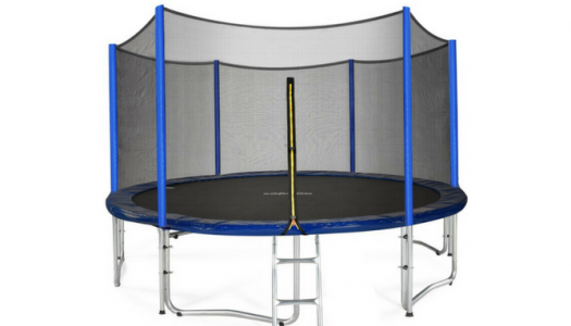 Zupapa TUV Approved Trampoline with Enclosure Net and Poles plus Safety Pad Ladder Jumping Mat and Rain Cover Review
