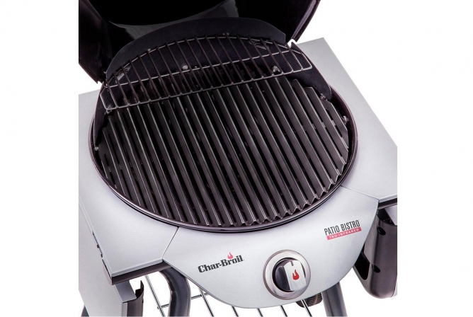 Char-Broil Patio Bistro Tru-Infrared Electric Grill Review Porcelain Coated Cast Iron Grates