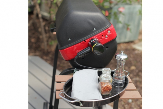 Easy Street Deluxe Electric Cart Grill Review Side Tables