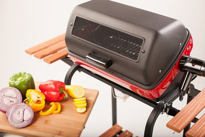 Easy Street Deluxe Electric Cart Grill Review Viewing Window