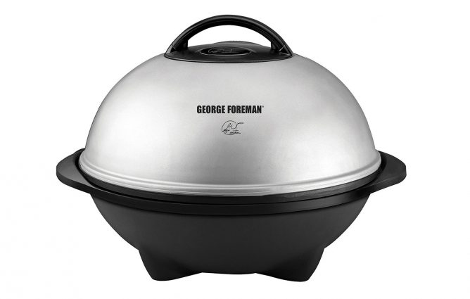 George Foreman Indoor Outdoor Electric Grill Review Converts to tabletop grill