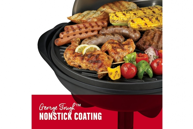 George Foreman Indoor Outdoor Electric Grill Review Nonstick grill grates