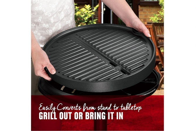 George Foreman Indoor Outdoor Electric Grill Review convertible and versatile