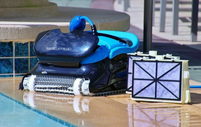 Dolphin Nautilus Plus Robotic Pool Cleaner with CleverClean