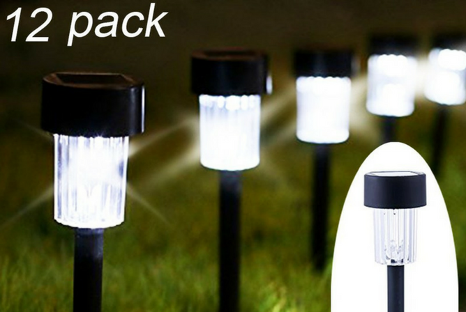Maggift 12 Pack Solar Pathway Lights