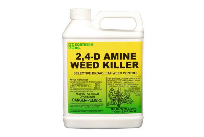 Southern Ag 2,4-D Amine Weed Killer Selective Broadleaf Weed Control, 32oz - 1 Quart