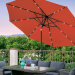 Best Choice Products 10ft Deluxe Patio Umbrella wSolar LED Lights, Tilt Adjustment