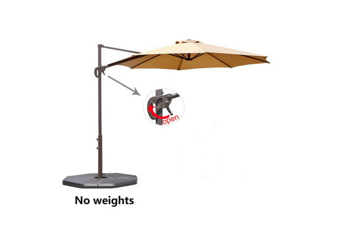 Le Papillon 10 ft Cantilever Umbrella Outdoor Offset Patio Umbrella