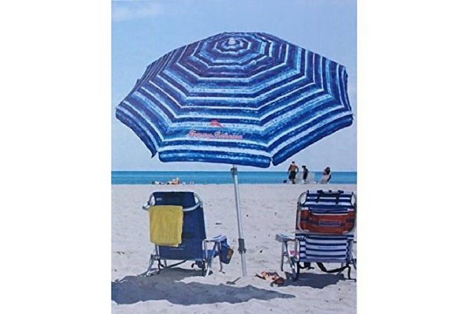 Tommy Bahama Sand Anchor 7 feet Beach Umbrella with Tilt and Telescoping Pole