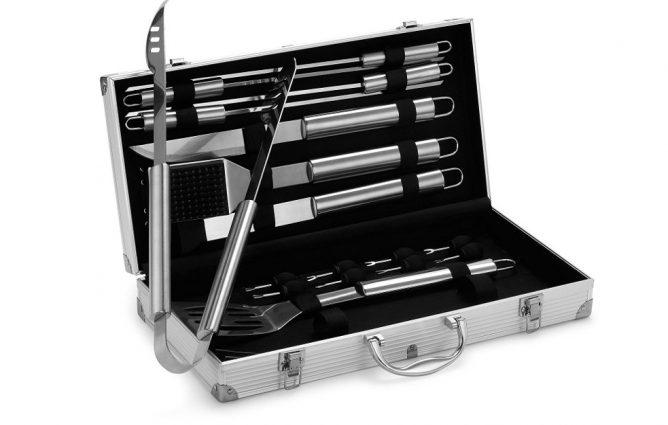 VonHaus 18-Piece Stainless Steel BBQ Tool Set