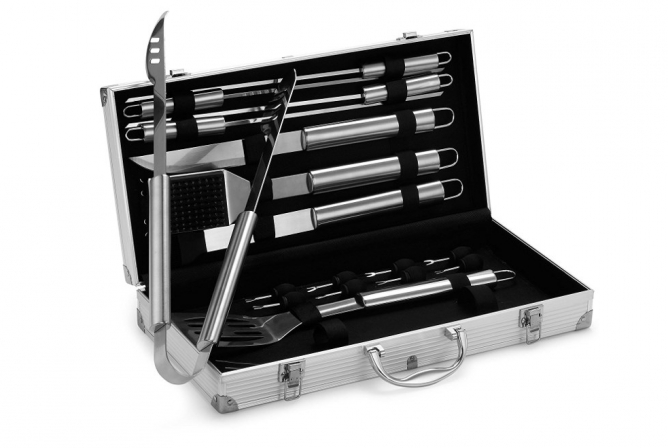 VonHaus 18-Piece Stainless Steel BBQ Tool Set