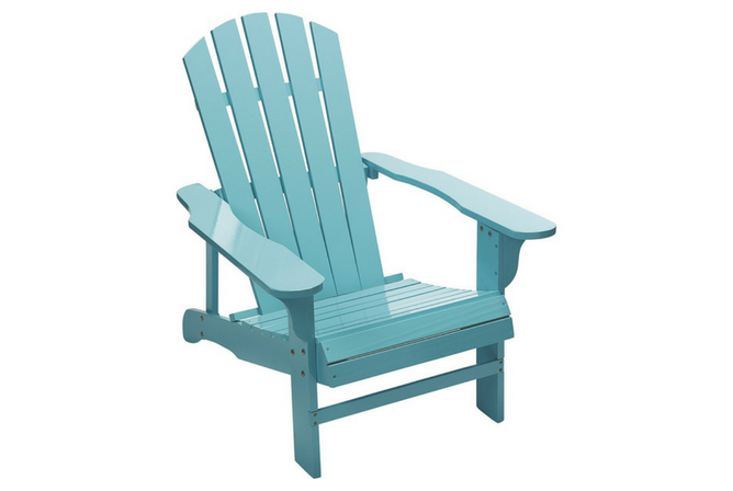 Kotulas Classic Turquoise Painted Wood Adirondack Chair
