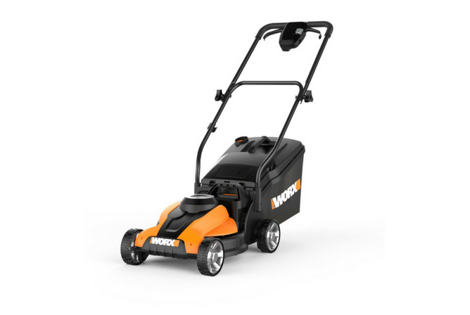 Worx WG775 24V 14 Inch Cordless Electric Lawn Mower