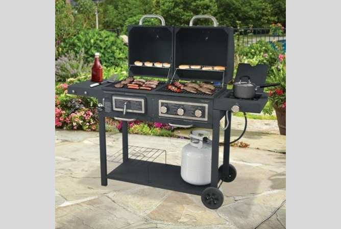 Backyard Grill Barbeque & Burger GasCharcoal Grill